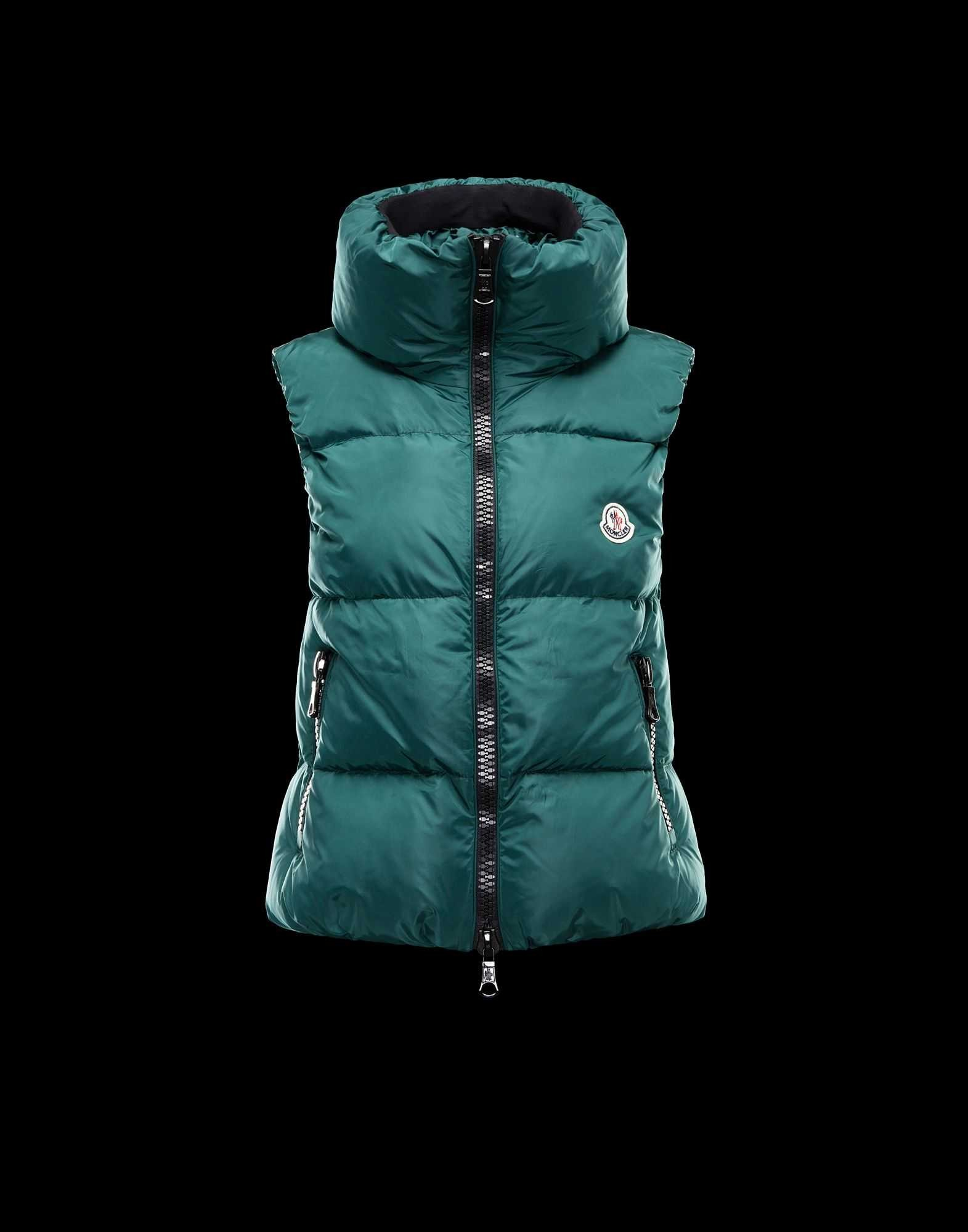 c2223695a 2014 New! Moncler PETY Top Quality Womens Down Vests Green – Cheap ...