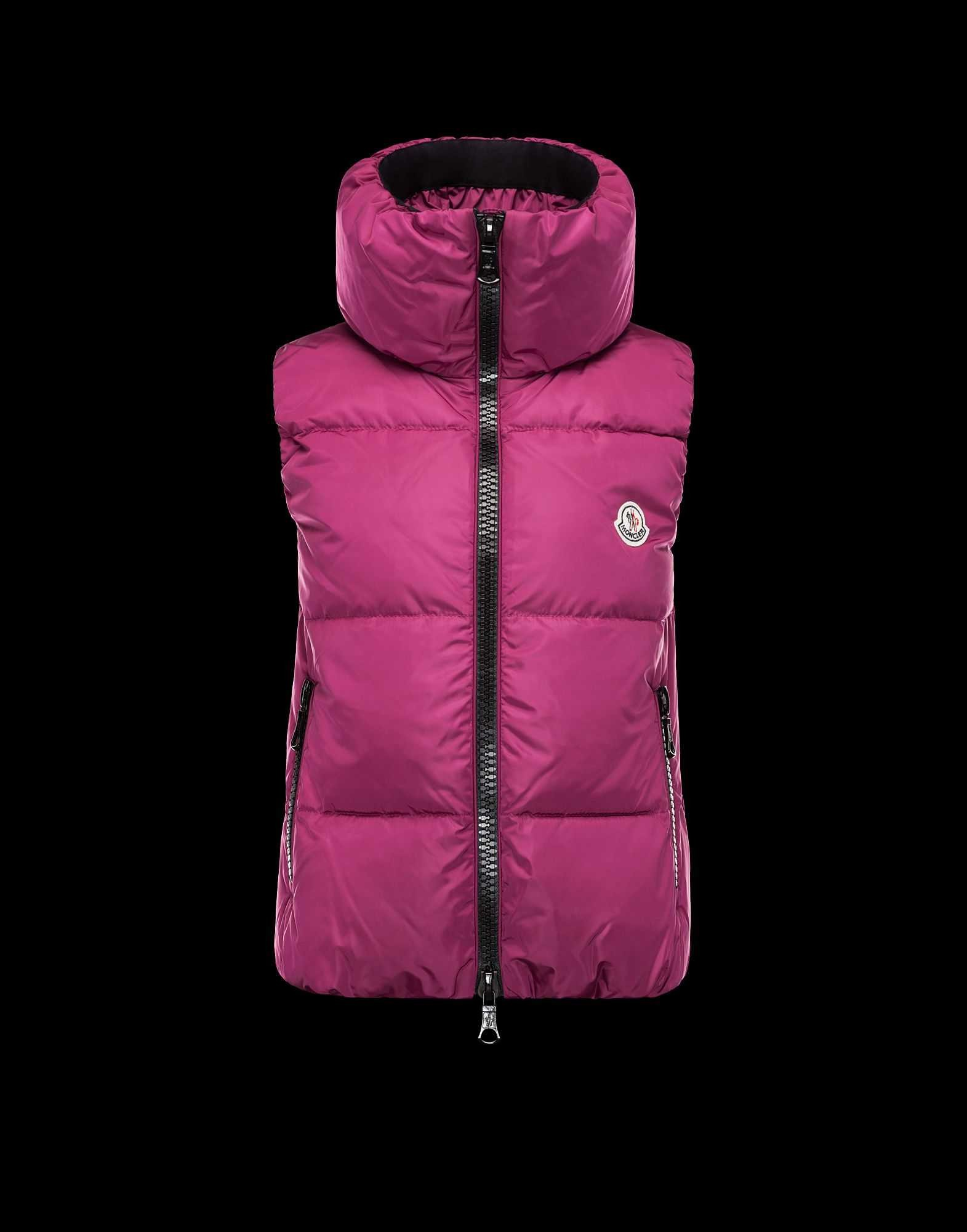 3797c8c90b9b 2014 New! Moncler PETY Top Quality Womens Down Vests Mauve – Cheap ...