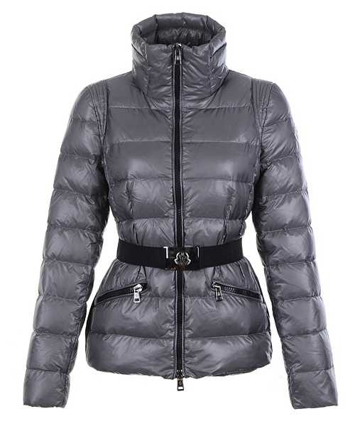 0b8bdfcdfa5d Moncler Adour Euramerican Style Women Jackets Belt Silver Grey ...
