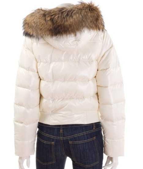 11d9a08d moncler alpin klassiske eider dunjakker kvinder pels krave hvid ...