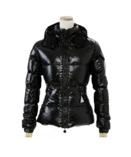 d660dadc Moncler Badia Meget Skinnende Dame Down Jackets Black – Billige ...