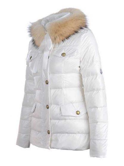 ea0afb306e7 moncler cachalot designer jakker ned kvinder kort hvid – Billige ...