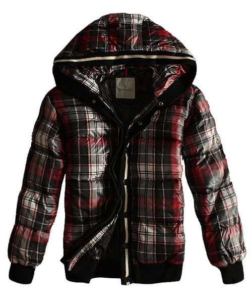 5e062f3d446 Moncler clásico hombre abajo chaqueta rejilla estilo zip negro ...