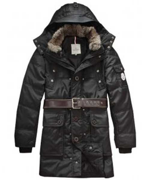 75cd6c906 Moncler Down Coats Mens Mid-Length Hooded Black – Cheap Moncler ...
