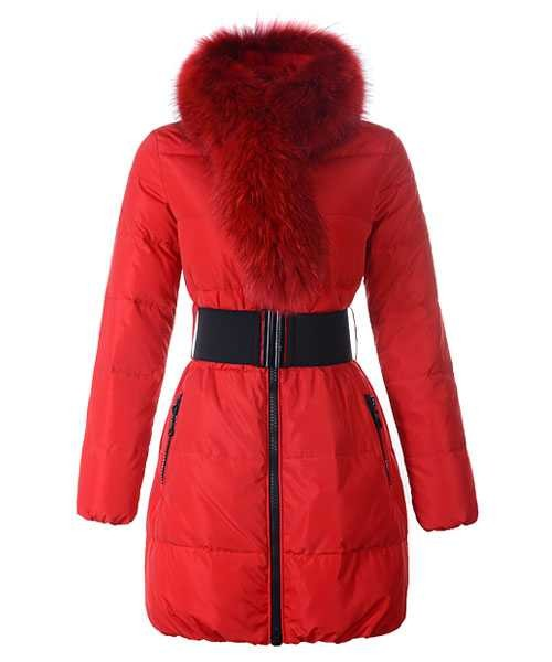 d77169fb58a2 Moncler Lievre Womens Coat Designer Long Red – Cheap Moncler jackets ...