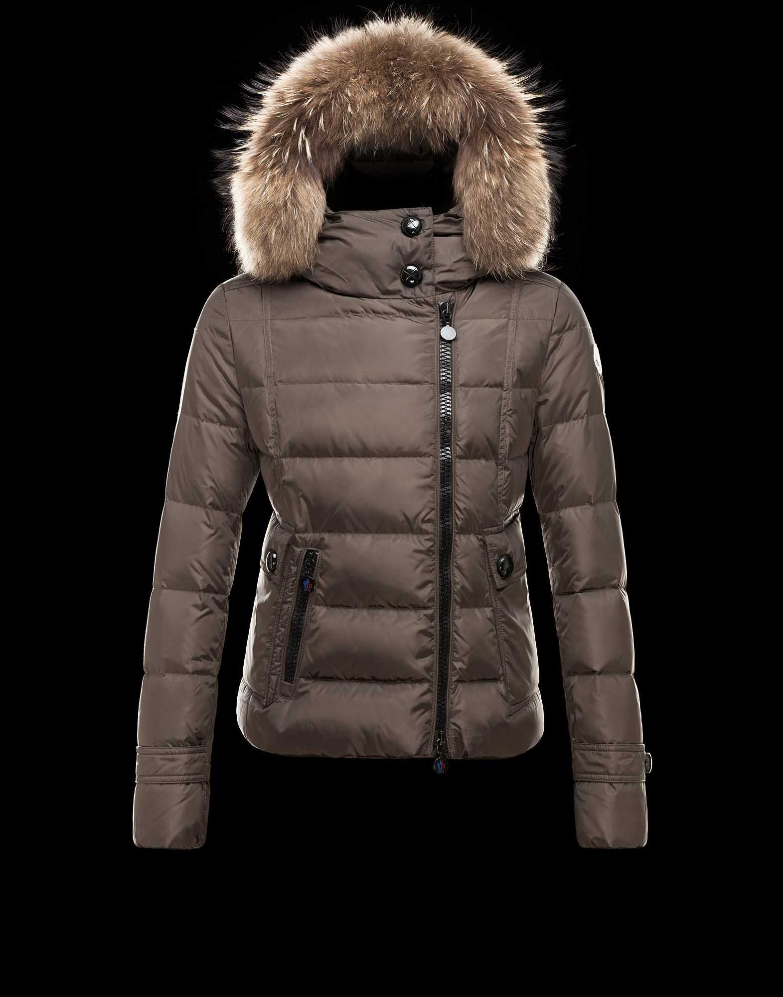 2014 New! Moncler Bryone Down Jacket For Women Dark Green